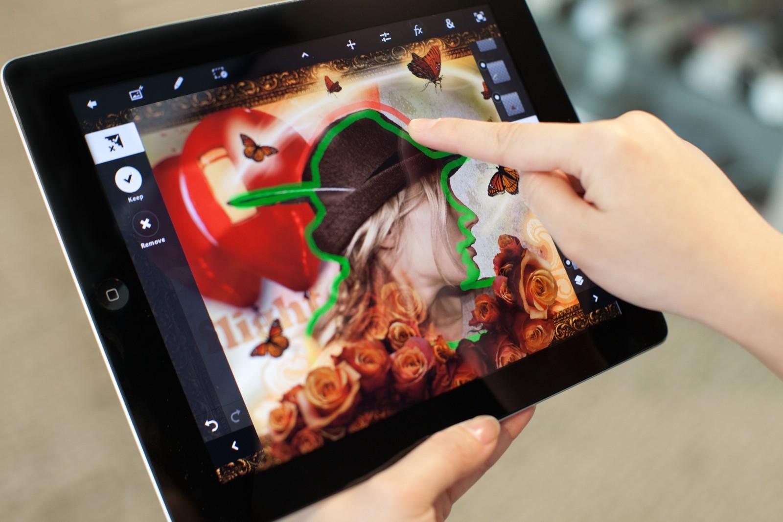 Использование Adobe Photoshop Touch на устройствах Android
