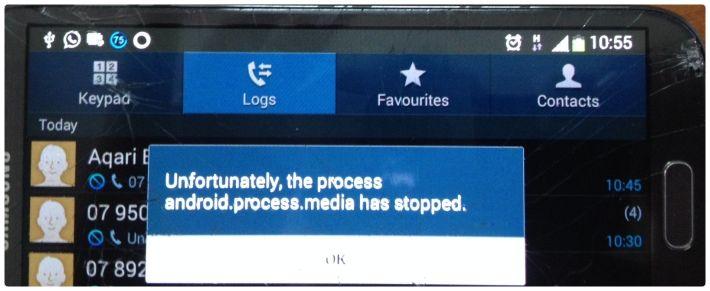 Ошибка в приложении Android Process Media - как исправить и предупредить
