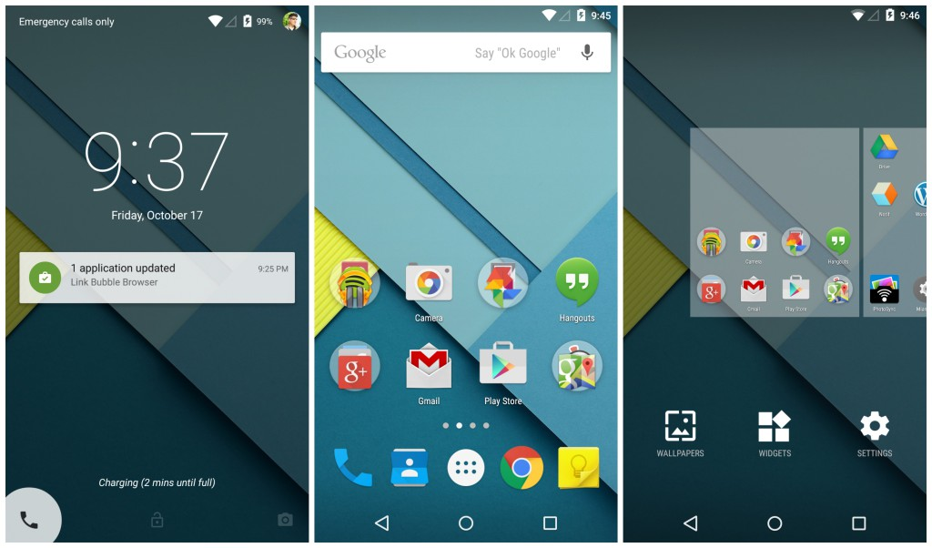 Android-5.0-Lollipop-lockscreen-homescreen