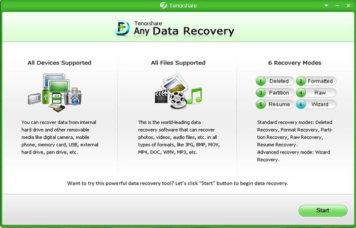 "фото ""Tenorshare Data Recovery"""